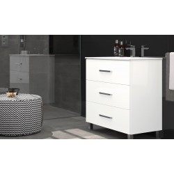 BATHROOM FURNITURE CABINET OROSI WITH THREE DRAWERS, 60CM