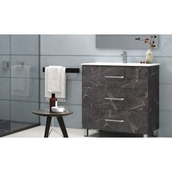BATHROOM CABINET  FUJI WITH THREE DRAWERS AND MIRROR, 80CM