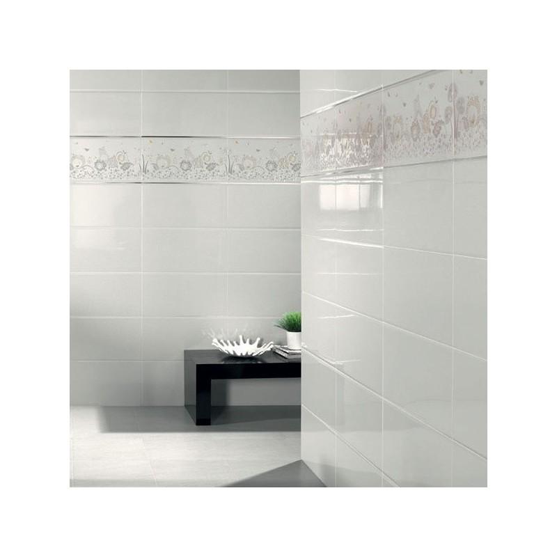 Blanco brillo 25x50cm std azulejos tienda online - Azulejos blanco brillo ...