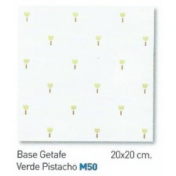 BASE GETAFE VERDE PISTACHO 20x20cm STD