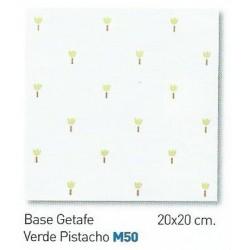 BASE GETAFE VERDE PISTACHO  20x20cm COM
