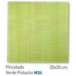 PINCELADO VERDE PISTACHO  20x20cm COM