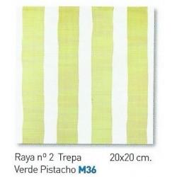 RAYA Nº2 TREPA VERDE PISTACHO  20x20cm COM