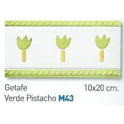 CENEFA VERDE PISTACHO 10x20cm.