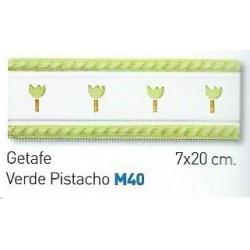 CENEFA VERDE PISTACHO 7x20cm.