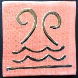 SHINY ROJO DECORADO 10x10cm. ECO
