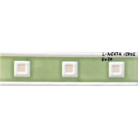 L nerja verde brillo 5x20cm azulejos tienda online - Azulejo blanco 15x15 ...