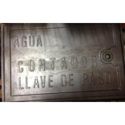 PUERTA DE ALUMINIO PARA CONTADOR/LLAVE DE PASO 23x35