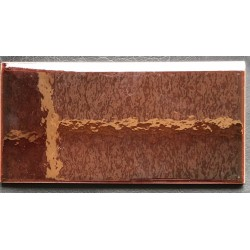 SHINY SKIRTING TILES MARRON 10x20cm.